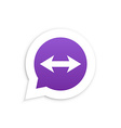 Arrows in speech bubble icon