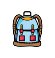 backpack object with pockets and closures design vector image vector image