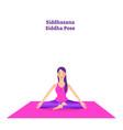 beautiful girl is doing yoga vector image vector image