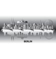 berlin city gradient 2 vector image