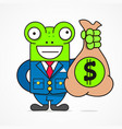 business concept smiling credit manager character vector image vector image