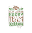 Campus rugby team print vector image vector image