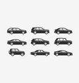 car icon set transport transportation symbol vector image vector image