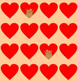 cats in hearts vector image vector image