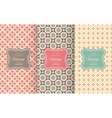 Charming different seamless patterns vector image
