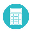 circle light blue with calculator icon vector image