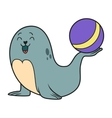 Circus seal vector image vector image