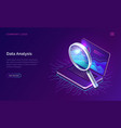 data analysis search engine optimization isometric vector image