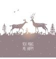 deer silhouette design vector image vector image