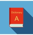 Dictionary icon flat style vector image