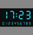digital led numbers electronic or digital clock vector image vector image