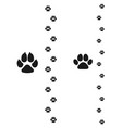 dogs and cats paws pet footprint flat icon vector image