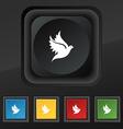 Dove icon symbol Set of five colorful stylish vector image