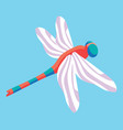dragonfly in the sky vector image vector image