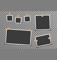 empty photo picture frame memory album card tapes vector image vector image