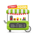fast street food cart colorful image vector image