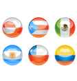 flag buttons vector image