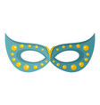 floral mask icon flat style vector image vector image