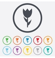 Flower sign icon Rose symbol vector image vector image