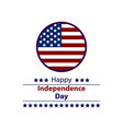 fourth of july happy independence day vector image vector image