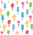 fun ice cream and stars seamless pattern vector image