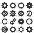 gear icons set on white background vector image vector image