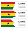 ghana flag banners collection independence day vector image vector image