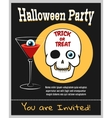 Halloween zombie party invitation vector image