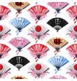 hand fan pattern vector image vector image