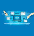 itsm it service management technology information vector image