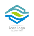 logo icon trapeziodal shape design symbol abstract vector image vector image