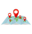 map with pointer navigations navigation concept vector image vector image