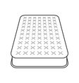 mattress flat icon vector image vector image