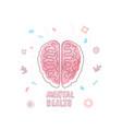 mental health human brain vector image vector image