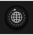 modern tourism black circle icon vector image vector image