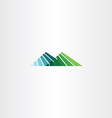 mountain hill logo icon sign vector image vector image