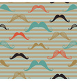 Mustache seamless pattern in vintage style Pattern vector image vector image