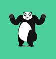 panda surprised emoji chinese bear astonished vector image vector image