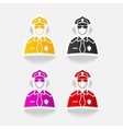realistic design element police officer vector image