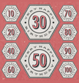 Retro Vintage style Birthday greeting card vector image vector image