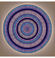 Round Knitted Pattern vector image vector image
