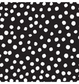 seamless modern messy polka dot pattern vector image vector image