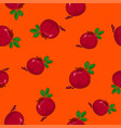 seamless pattern pomegranate on orange background vector image vector image
