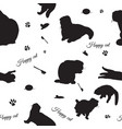 seamless pattern with cats and cats stuff vector image vector image