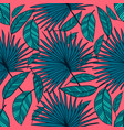 seamless tropical pattern tropical color vector image vector image