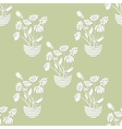 Seamless with Chamomile in Flowerpot vector image vector image