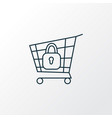 secure shopping icon line symbol premium quality vector image