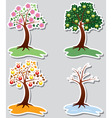 set apple trees vector image vector image