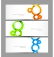 set banners with circles vector image vector image