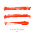 set bloody red watercolor hand painted textures vector image